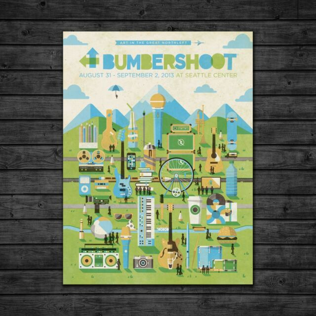 """Limited Edition 18/""""x24/"""" Screen Print Bumbershoot 2013 Festival Poster"""