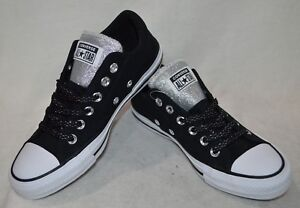 Details about Converse Women's All Star Madison OX BlackSilver Sneakers Asst Size NWB 562494F