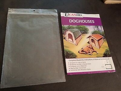 Heimwerker Gebäudebausätze Ucando-do-it-yourself-series-two-styles-of-doghouses-blueprints-and-instruction