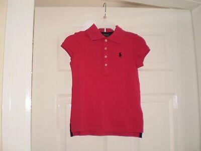 """Fashion Style Camicia """"polo Ralph Lauren"""" Ragazza Rosa Taglia: 5/7 Anni (uk) Nuovo Con Etichette Vendita-mostra Il Titolo Originale"""