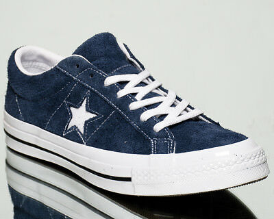 Converse One Star OX Premium Suede men lifestyle sneakers NEW navy white 158371C | eBay