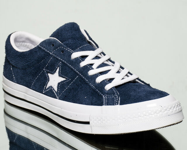 34dc899f16ad4 Converse One Star OX Premium Suede men lifestyle sneakers NEW navy white  158371C