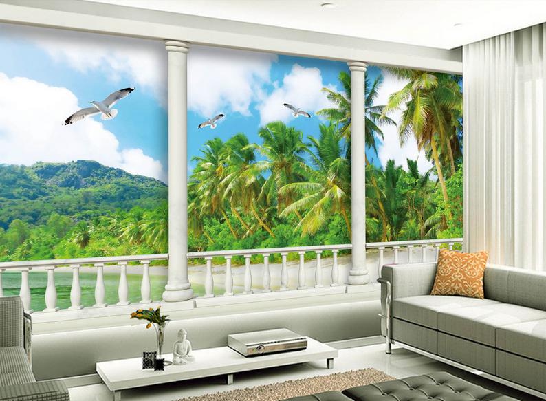 3D Fliegende Vögel Baum 85  Tapete Wandgemälde Tapete Tapeten Bild Familie DE