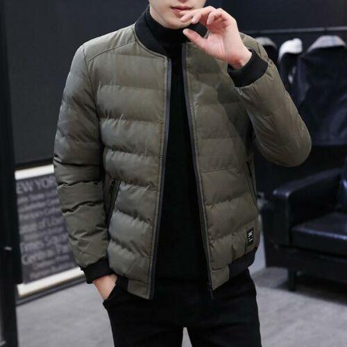 Parka Thicken Jacket Coat Hooded Overcoat Outwear Faux Fur Warm Winter Men/'s