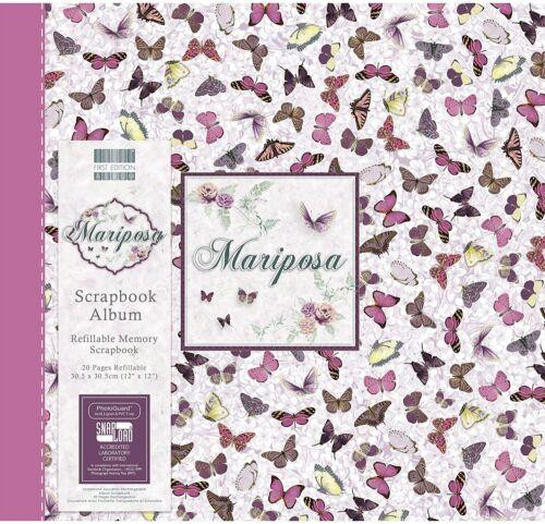 """First Edition Mariposa Butterflies Scrapbook Album 12/"""" x 12/"""" 30.5 x 30.5 cm,"""