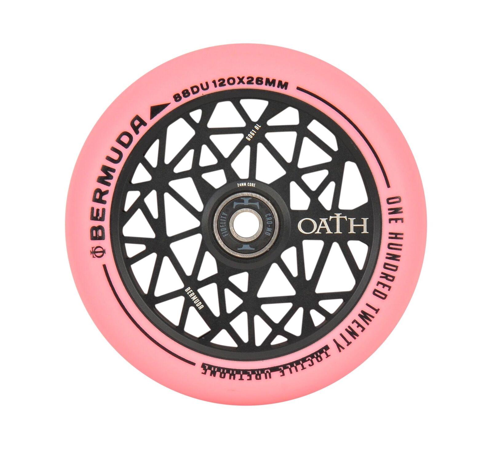 Oath Bermuda Scooter Wheels (Pair) 120mm -  Pink