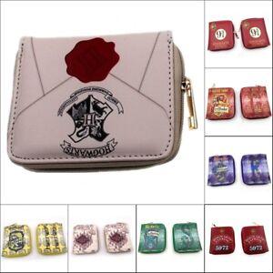 Men-039-s-Zipper-Wallet-Harry-Potter-Short-Wallet-Card-Coin-Bag-Wallet-Gift-Otaku