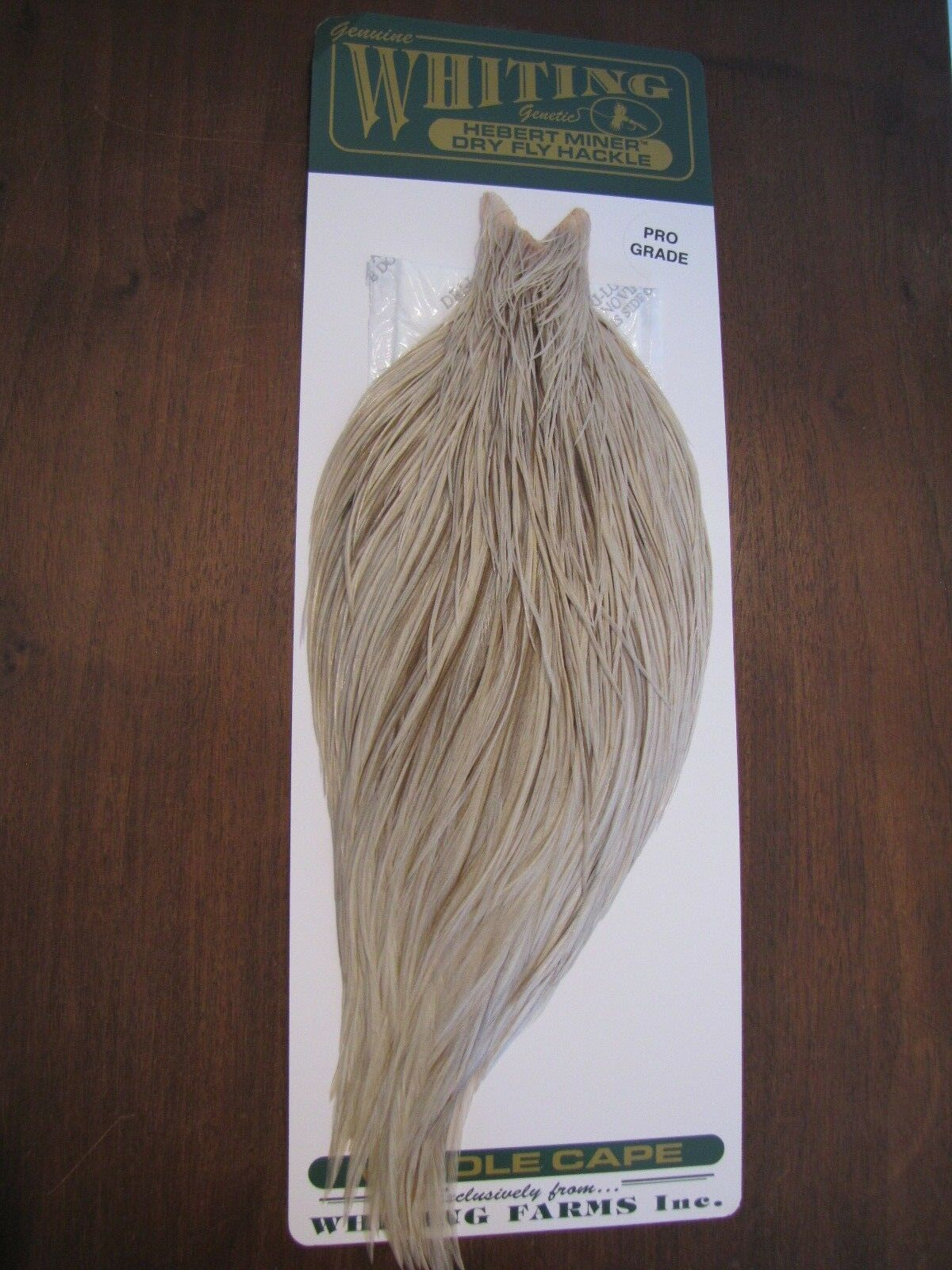 Fly Tying Whiting Farms Rooster Cape Light Grey Dun  D