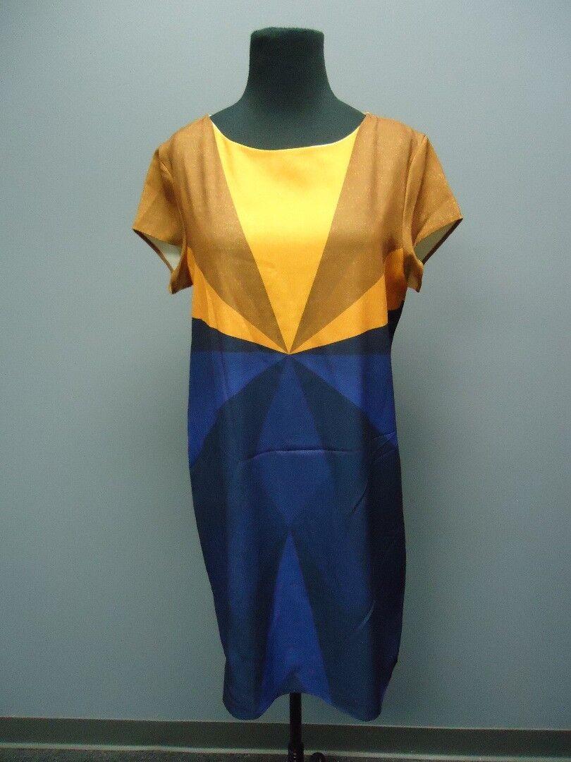 LA GALERISTE Purple orange Short Knee Length Dress Sample NWT Sz M EE9007