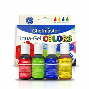 Details about Chefmaster Liqua Gel Food Coloring Set (4-Pack), All Natural  Food Coloring Organ