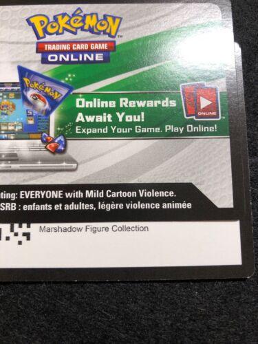 Sun /& Moon Marshadow Figure Collection Box Code Pokemon Online TCGO SM85 Promo