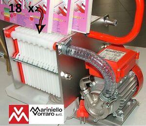 Pompa con filtro enologico colombo 18 inox per filtrare for Pompa x laghetto con filtro