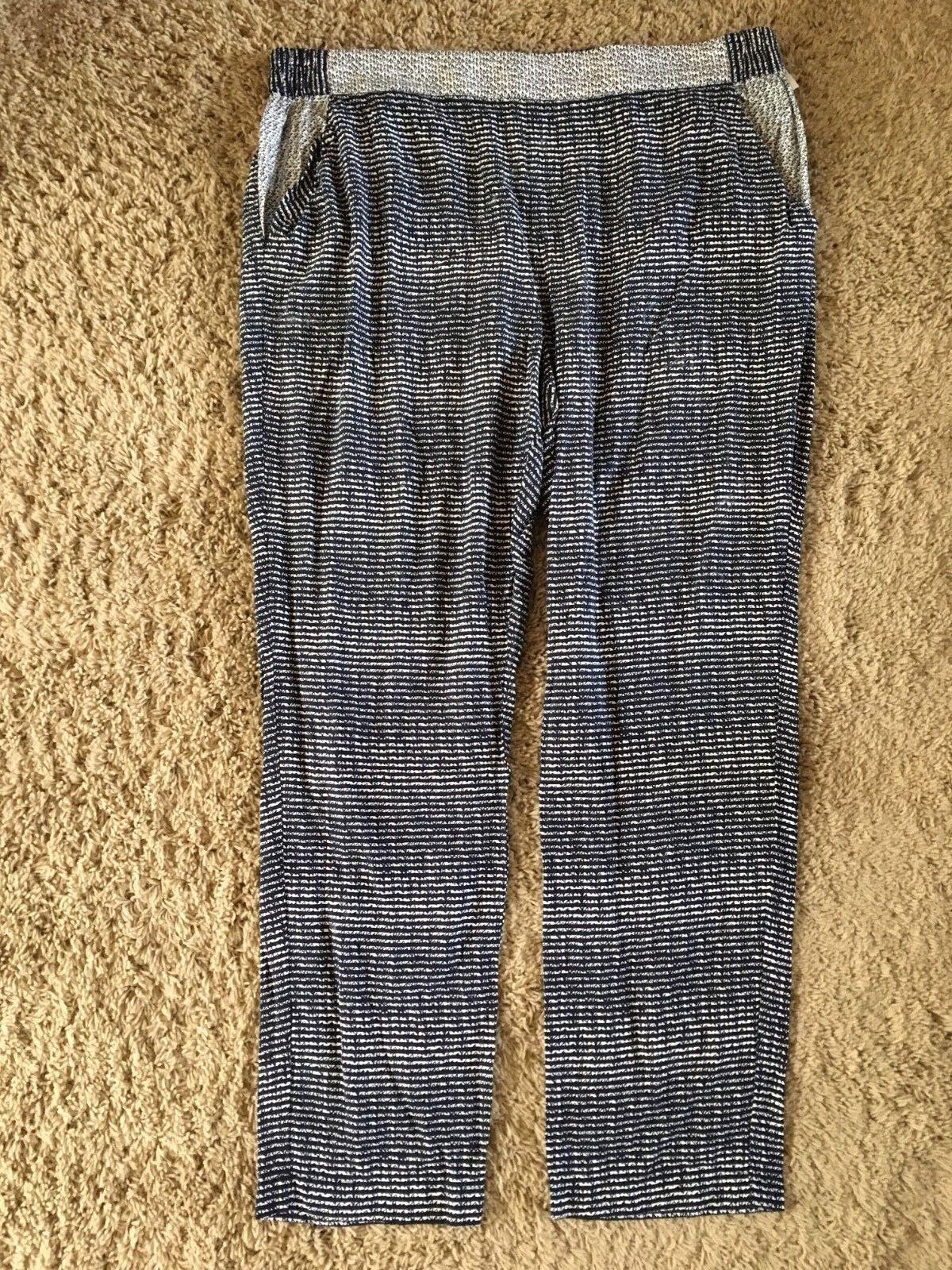 CABI  Strand PANTS size XL  Navy bluee White Spring 2016  Ret  99  EUC H88
