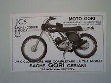 advertising Pubblicità 1975 MOTO GORI 50 JC 5 CODICE