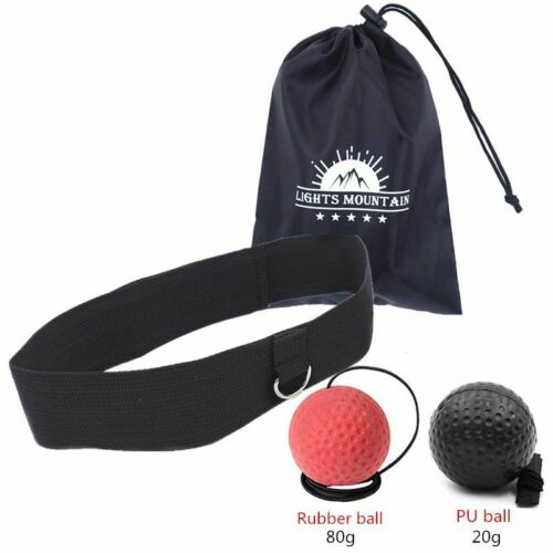 Boxing Reflex Ball Adjustable Headband Punching Speed Reaction Agility Ball Set