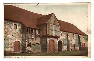 The Old Tithe Barn Maidstone Photo Postcard 1932 Ebay