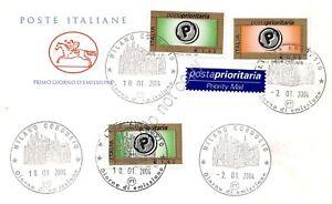 FDC-Cavallino-Repubblica-2004-Posta-Prioritaria-3-valori-Annullo-figurato