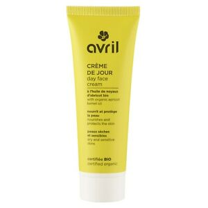 Creme-de-Jour-Peaux-Seches-amp-Sensibles-50ml-Karite-Bio-Vegan-Cosmetique-AVRIL
