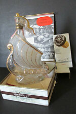 "INVINCIBLE FRENCH COGNAC DECANTER LARSEN & CO ""LE DRAKKAR"" (THE SHIP) W/BOX"