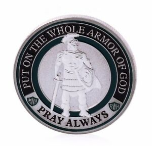 USA-1-Oz-999-Silver-Plated-Commemorative-coin-039-Armor-of-God-039-Sealed-amp-UNC