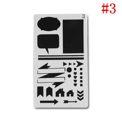 20style Bullet Journal Hollow Plastic Stencils Journal//Notebook//Diary//Scrapbook