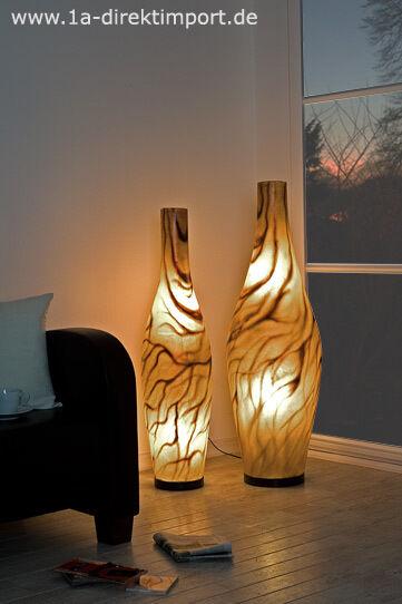 Exklusive Fiberglas Design Stehlampe, Stehleuchten modern, Ambiente Stehlampen