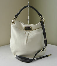 Marc By Marc Jacobs Lily Flower Black White Classic Q Leather Hillier Hobo