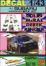 DECAL 1/43 SUBARU IMPREZA 555 C.MCRAE ACROPOLIS R. 1996 WINNER (03)