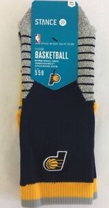 Stance-Pacers-Navy-Size-Small-3-5-5-Crew-Fusion-559-Basketball-Socks-951B