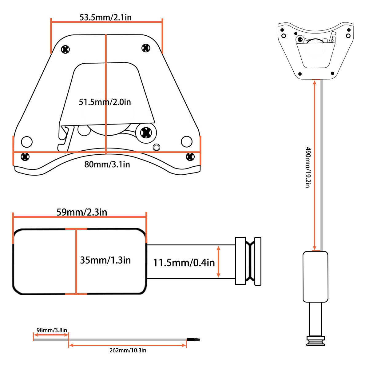 acoustic guitar soundhole preamp piezo pickup eq with microphone slapping pick 634458181693