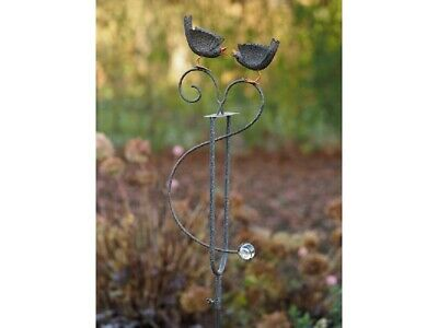 Aggressiv Windspiel Wippe Gartenstecker Gartendeko Metall Pflanzenstecker Vögel Vogel 574