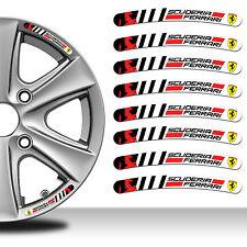 8 Ferrari Scuderia Adesivi Rim Sticker Auto Cerchi Ruota Strisce Wheel Strip C33