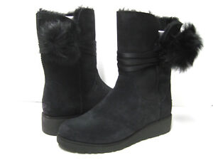 abe608fadc7 Details about UGG BRITA WOMEN SHORT BOOTS POM-POM BLACK US 10 / UK 8.5 /EU  41