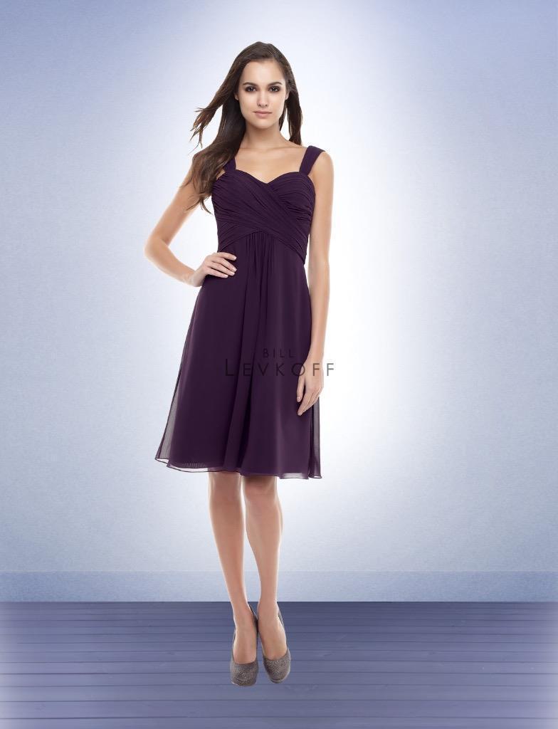 Bill Levkoff Bridesmaid Dress 155 Prom Wedding Short Gown Chiffon Sleeveless NEW