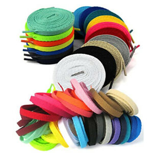 120cm-Flat-Coloured-Shoelaces-Replacement-Boot-Trainer-Football-Shoe-Laces-8mm