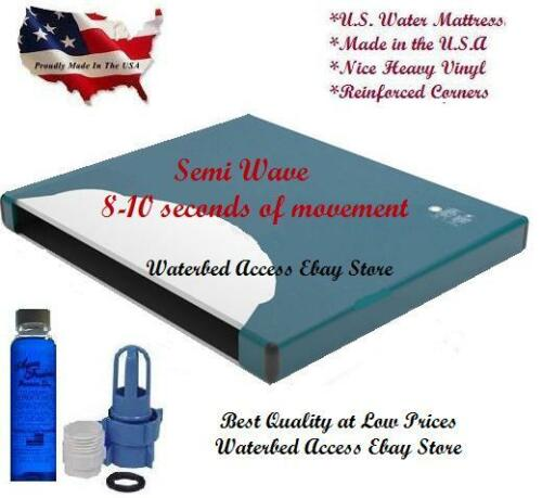 California King SEMI MOTION WATERBED MATTRESS with Cotton Zipper Cover /& Liner