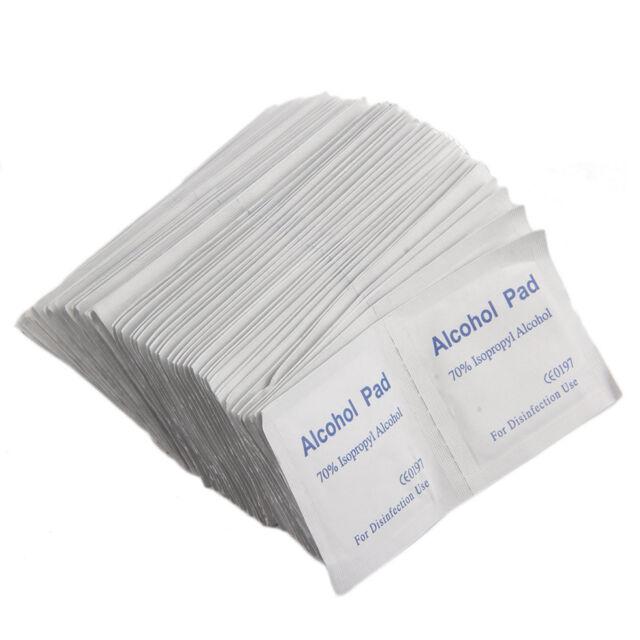 Alcohol Wipe Pad Medical Swab Sachet Antibacterial Tool Cleanser 100PCS F5