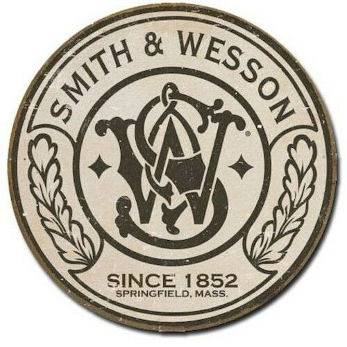 SMITH /& WESSON Pistol Logo Man Cave Tin Sign Metal Garage Wall Decor Poster