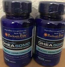 2X Puritan's Pride DHEA 50 mg total 200 Tablets