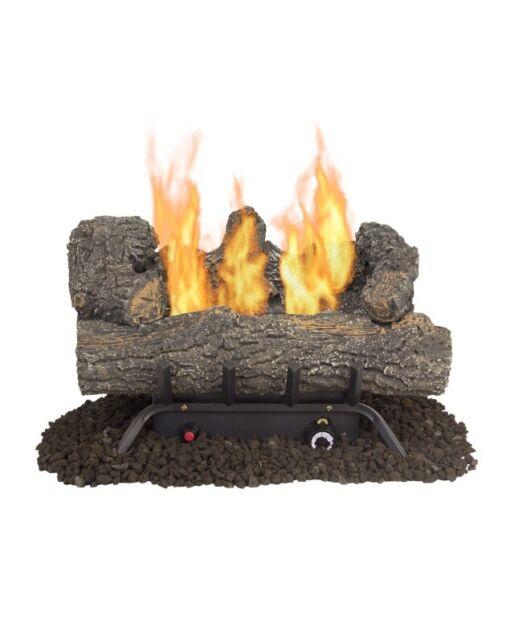 Pleasant Hearth 24 33000 Btu Vent Free Gas Fireplace Logs Remote