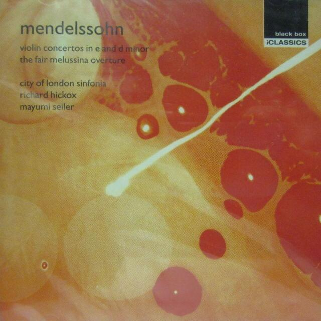 Mendelssohn(CD Album)Violin Concertos-Black Box Music-BBM3005-UK-1992-New