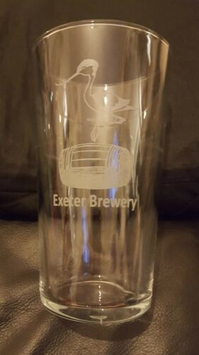 Exeter brewery beer ale pint glass birthday Christmas gift free UK p/&p