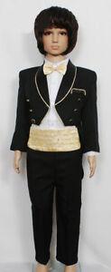 New-Boys-Black-Tuxedo-Dinner-Jacket-Suit-Set-6-24-Month