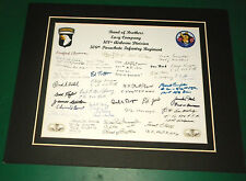 Band of Brothers Easy Company 29 Reprint Signatures 506TH. P.I.R. 101ST Airborne