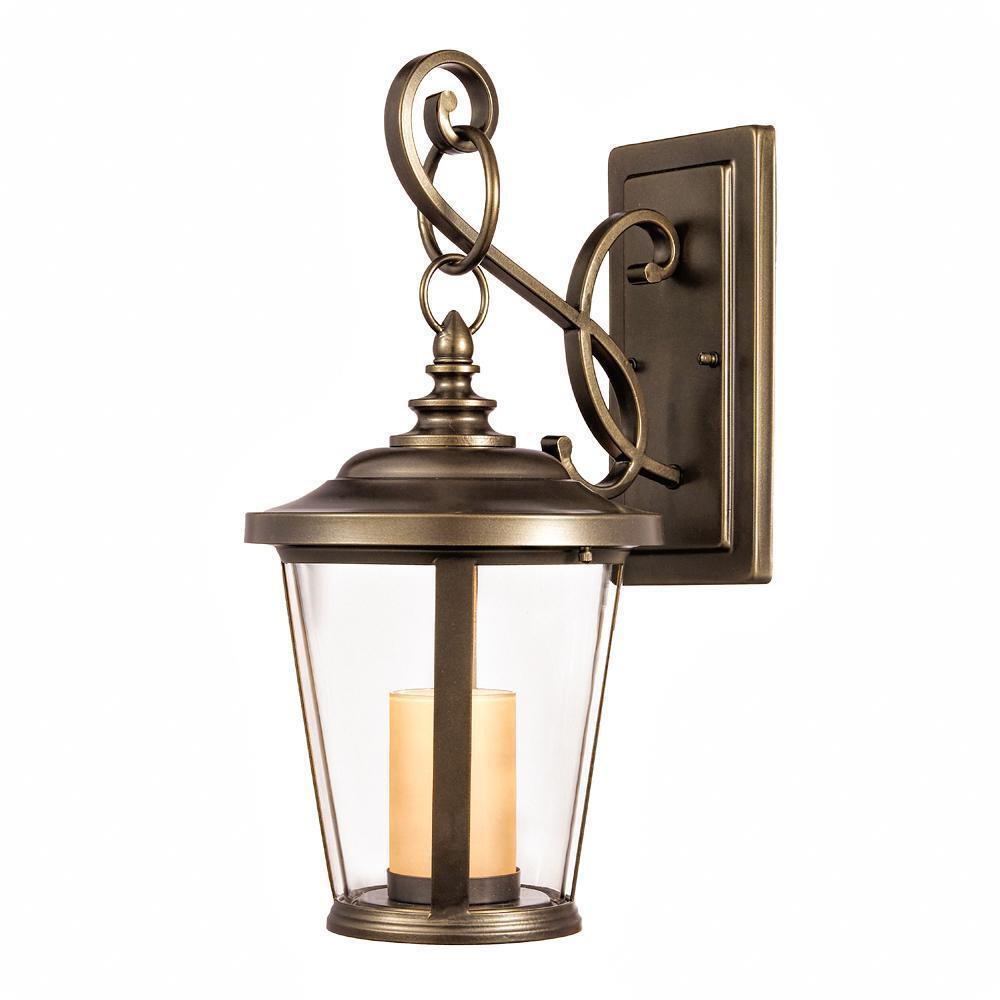 Home decorators Bellingham Bronce frojoado aceite LED Medio De Montaje en Parojo al Aire Libre
