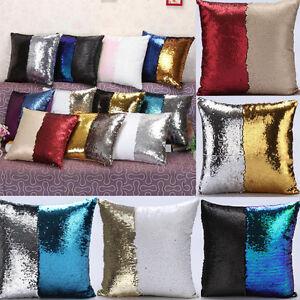 uk magisch wende meerjungfrau pailletten kissen glitzer deckel sofa wurf ebay. Black Bedroom Furniture Sets. Home Design Ideas