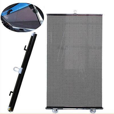Car Window Blind Auto Car Roller Curtain Sun Shade Universal Black 50x125 cm