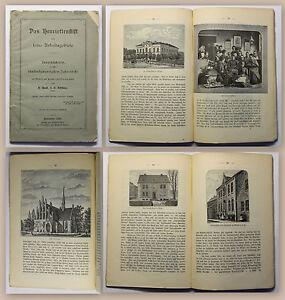 Buettner-Das-Henriettenstift-1885-Festschrift-Geschichte-Ortskunde-Hannover-xz