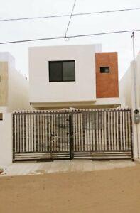 Casa nueva con patio en Col. Petroquímicas de Tampico