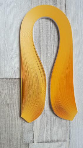 125 tiras de papel Quilling en luz naranja 5 mm de ancho y 125 GSM